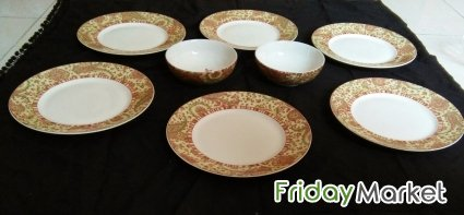 Photo Gallery & Glass Big Bowl Small Bowl Medium Bowl Dinner Plates in Oman ...