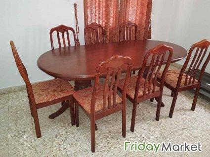 Surprising Used Dining Table 8 Chairs In Oman Fridaymarket Creativecarmelina Interior Chair Design Creativecarmelinacom