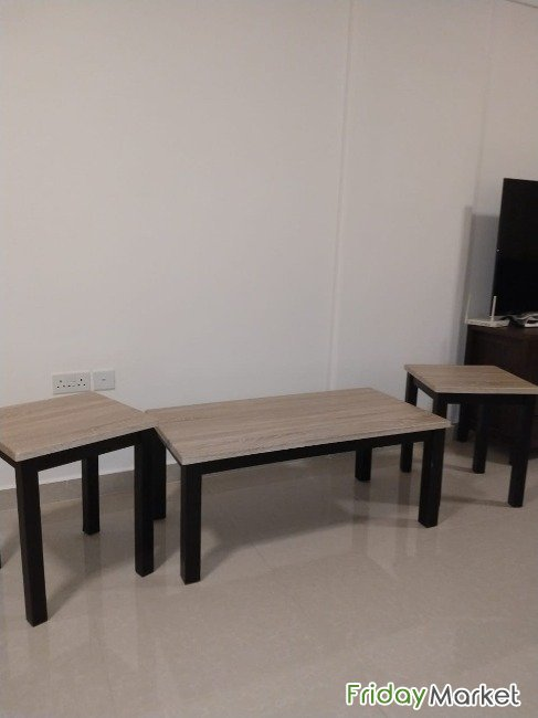 Living Room- Centre Table With Two Side Tables Muscat Oman